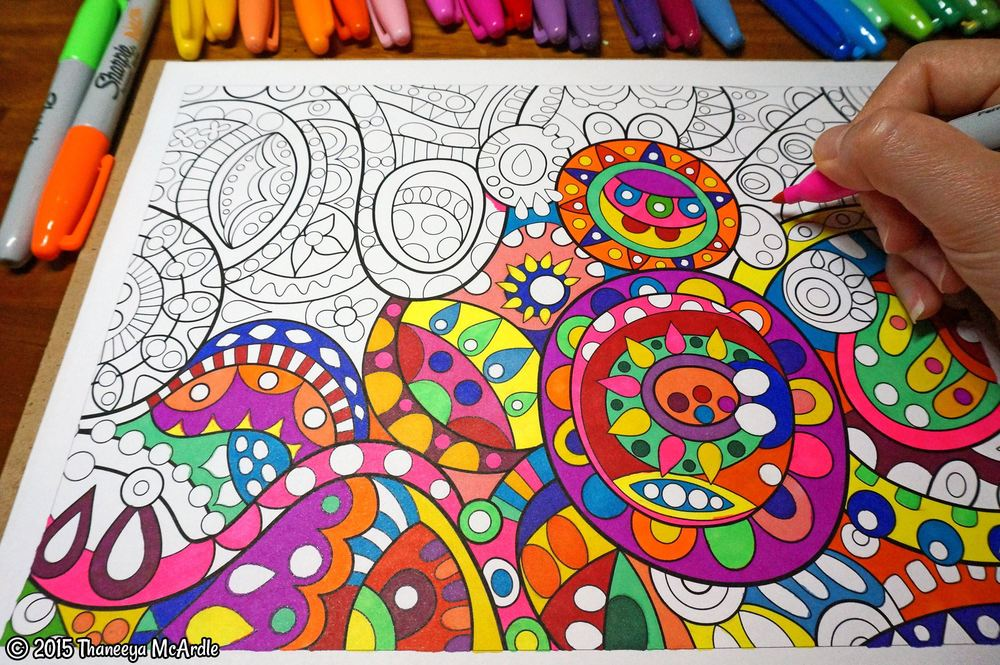 I bought an adult colouring book and I like it